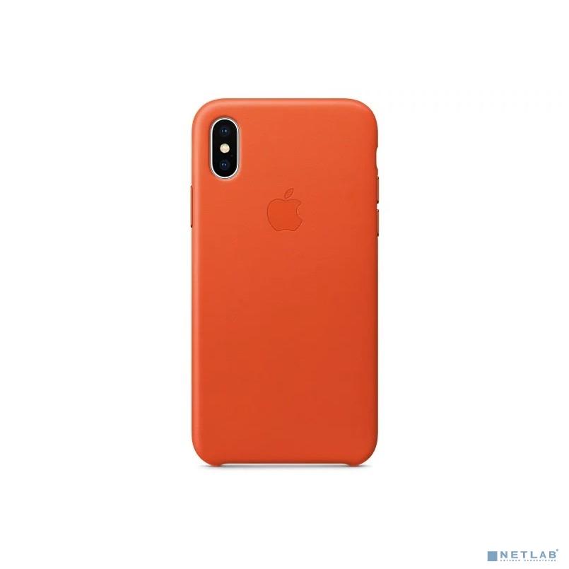 MRGK2ZM/A Apple iPhone X Leather Case - Bright Orange