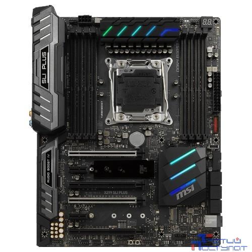 MSI X299 SLI PLUS RTL {S2066, X299, 8xDDR4, 4xPCI-Ex16, 2xPCI-Ex1, SATA III+RAID, M.2, U.2, 2xGB Lan, USB3.1, ATX}