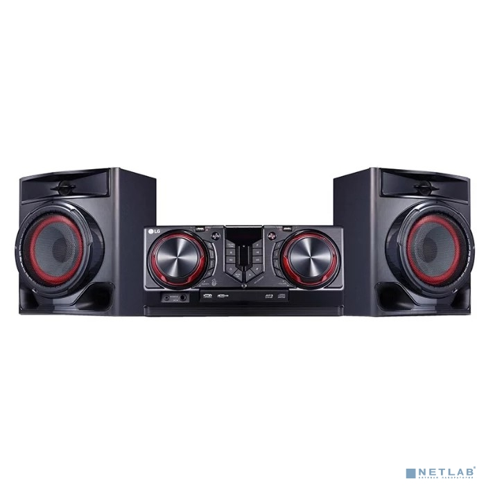 LG CJ44 черный {720Вт/CD/CDRW/FM/USB/BT}
