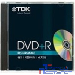TDK Диски DVD+R 4,7 GB 16x (Jewel Case, 10шт.) (DVD+R47MED)