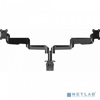 Wize DSA22P Настольное креплениедля двух дисплеев 10''- 32''  {VESA 75x75, 100x100 мм, нагрузка на один дисплей 11 кг, наклон +15°/-5°, поворот 90/30°,черн.}
