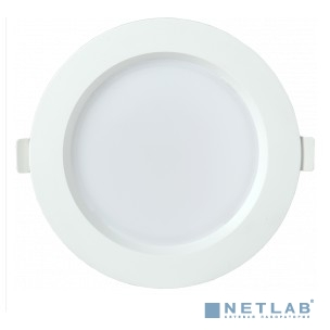 Iek LDVO0-1702-12-3000-K01 Светильник LED ДВО 1702 белый круг 12Вт 3000K IP40 {пластик. корпус, диам 145 мм}