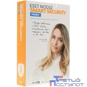 NOD32-ESM-1220(BOX)-1-3 ESET NOD32 Smart Security Family - универсальная лицензия на 1 год на 3 устройства или продление на 20 месяцев