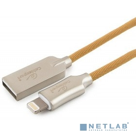 Cablexpert Кабель для Apple CC-P-APUSB02Gd-1.8M MFI, AM/Lightning, серия Platinum, длина 1.8м, золотой, блистер