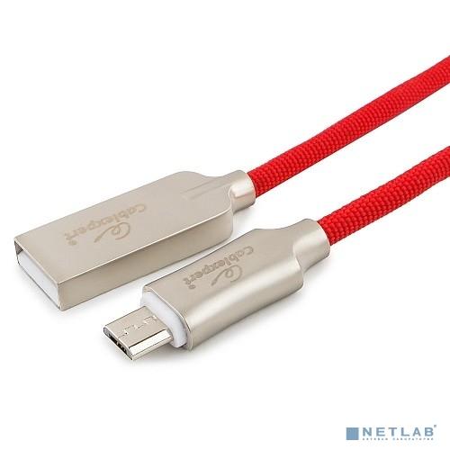 Cablexpert Кабель USB 2.0 CC-P-mUSB02R-1M AM/microB, серия Platinum, длина 1м, красный, блистер