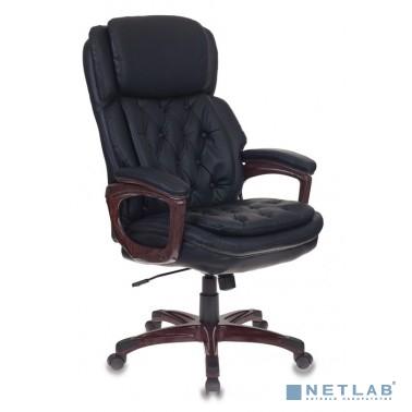 Кресло руководителя Бюрократ T-9918/BLACK черный рец.кожа/кожзам [1075528]