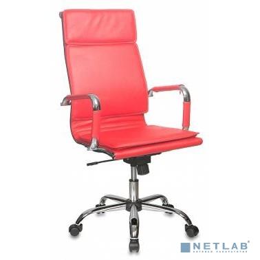 Кресло руководителя Бюрократ CH-993/red красный искусственная кожа крестовина хром[664067]