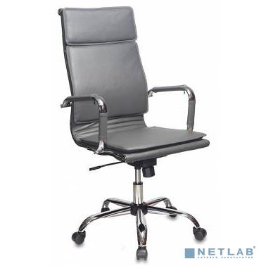 Кресло руководителя Бюрократ CH-993/grey серый искусственная кожа крестовина хром [813060]