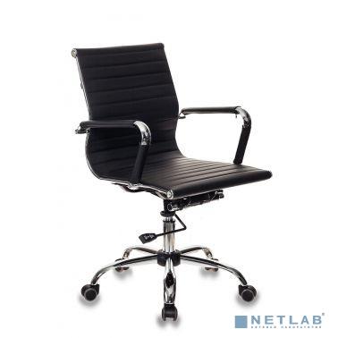 Кресло руководителя Бюрократ CH-883-LOW/BLACK низкая спинка черный искусственная кожа крестовина хро  [1047688]