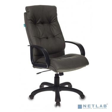 Кресло руководителя Бюрократ CH-824B/F4 темно-серый искусственный нубук [1079044]