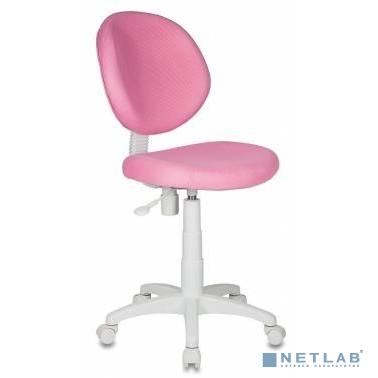 Кресло детское Бюрократ KD-W6/TW-13A розовый TW-13A (пластик белый) [844020]