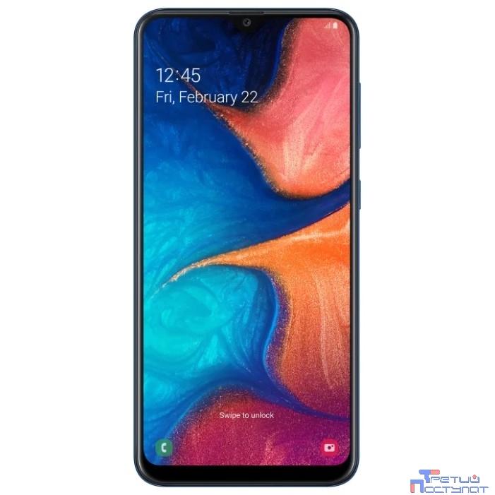 Samsung Galaxy A20 32Gb, SM-A205F, синий [SM-A205FZBVSER]