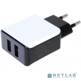 PERFEO Сетевое зарядное устройство с двумя разъемами USB, 2.4А (I4613)