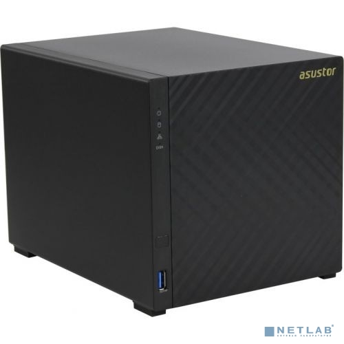 Asustor AS3204T v2 Сетевое хранилище 4 bay, Tower, 2GB DDR3L, Intel Celeron Quad-Core, 2GB DDR3L, GbE x1, USB 3.0, WoL, System Sleep Mode, AES-NI hardware encryption