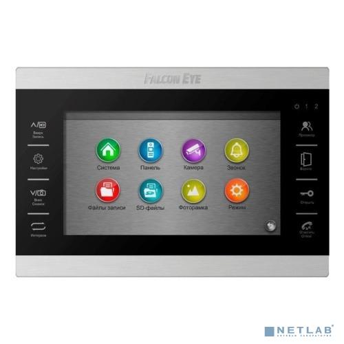 Falcon Eye FE-70 ATLAS HD (Black) HD Видеодомофон: дисплей 7'' TFT;  сенсорные кнопки; подключение до 2-х вызывных панелей и до 2-х видеокамер; адресный интерком; графическое меню; запись фото и видео