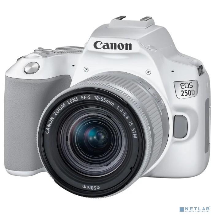 Canon EOS 250D белый {24.1Mpix EF-S 18-55mm f/1:4-5.6 IS STM 3'' 4K Full HD SDXC Li-ion}