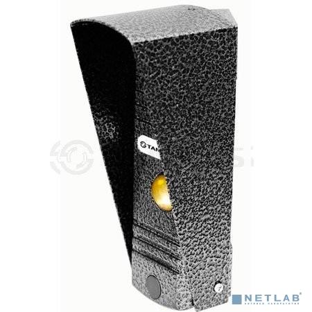 Tantos WALLE+ (асфальт) Цветная вызывная панель видеодомофона (накладная), ИК подсветка, 4-х проводная с регулировкой громкости динамика и чувствит. микрофона, вандалозащищенная, с козырьком и уголком