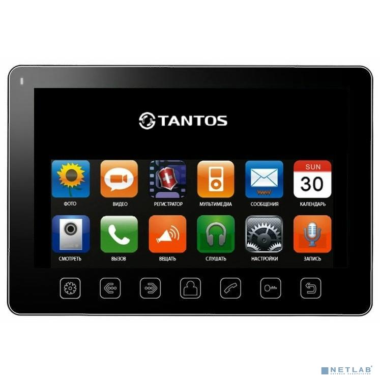 Tantos Prime Slim (black) Монитор видеодомофона, цв. TFT LCD 7'', сенсорные кнопки, hands-free, 2 вх. для вызывных панелей, 2 вх. для видеокамер, до 4шт. в параллель, память кадры/ролики на SD, до 32ГБ