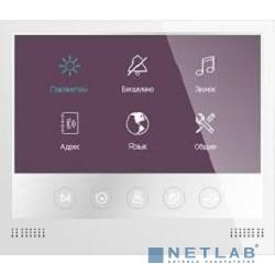 Tantos Selina Монитор цветного видеодомофона 7 дюймов с сенсорными кнопками, разрешение 800х480, hands free, подключение 2-х вызывных панелей, 2-х видеокамер, до 4-х  мониторов в параллель