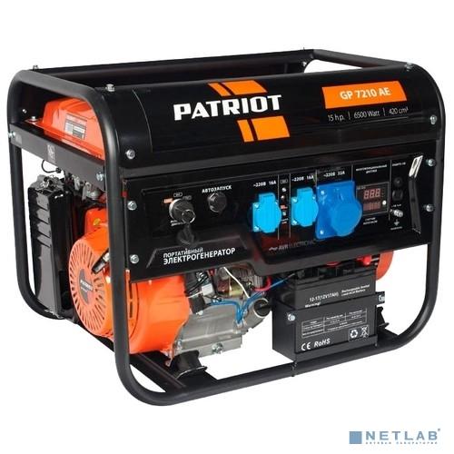 Генератор бензиновый PATRIOT GP 7210AE [474101590]