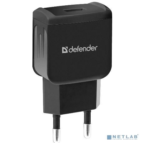 Defender Сетевой адаптер 1 USB, 5V/1А, черный, пакет (EPA-02) (83838)