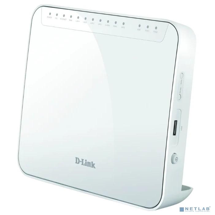 D-Link DSL-G2452GR/R1A Беспроводной двухдиапазонный маршрутизатор VDSL2 с поддержкой ADSL2+/3G/LTE/Gigabit Ethernet WAN, 2 FXS-портами и USB-портом