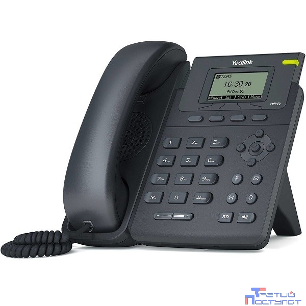 YEALINK SIP-T19P E2 (NO PSU) SIP-телефон, 1 линия, PoE (без БП)