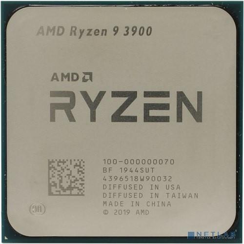 CPU AMD Ryzen 9 3900 OEM {3.1GHz up to 4.3GHz/12x512Kb+64Mb, 12C/24T, Matisse, 7nm, 65W, unlocked, AM4}