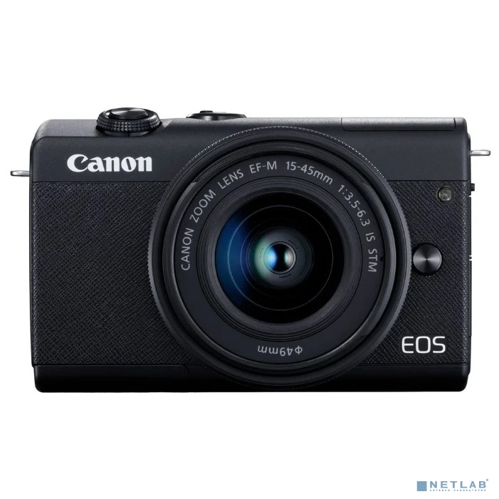 Canon EOS M200 черный 24.1Mpix 3'' 4K WiFi 15-45 IS STM LP-E12 (с объективом)