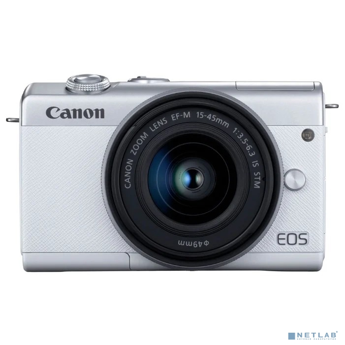 Фотоаппарат цифровой Canon EOS M200 15-45 IS STM (White)