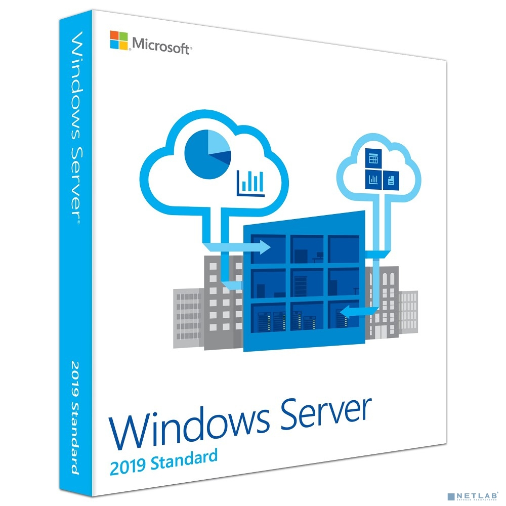 P73-07701 Microsoft Windows Server Standard 2019 English 64-bit Russia Only DVD 10 Clt 16 Core License