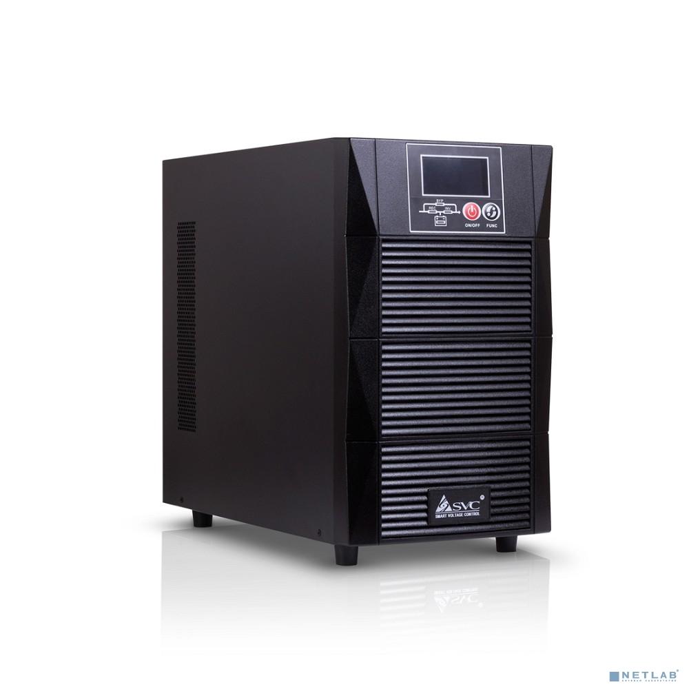 SVC, PTS-3KLS/SE ИБП, Онлайн, 3кВА/2.7кВт, Вход:220В, AVR:110-288В, Вых.:200/208/220/230/240В±1%, 50/60Гц±0.5%, Внешние АКБ/Блоки(не входят в комплект), LCD-дисплей, SNMP-слот, Напольный