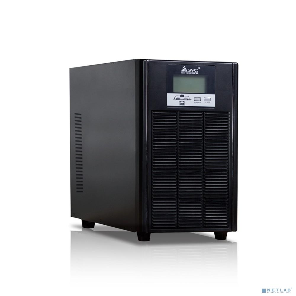 SVC, PTS-6KLS/SE ИБП, Онлайн, 6кВА/6кВт, Вход:220В, AVR:176-288В, Вых.:220/230/240В±1%, 50/60Гц±0.1%, Внешние АКБ/Блоки(не входят в комплект), LCD-дисплей, SNMP-слот, Напольный