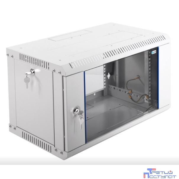 ЦМО! Шкаф телеком. настенный разборный 6U (600х350) дверь стекло (ШРН-Э-6.350) (1 коробка)