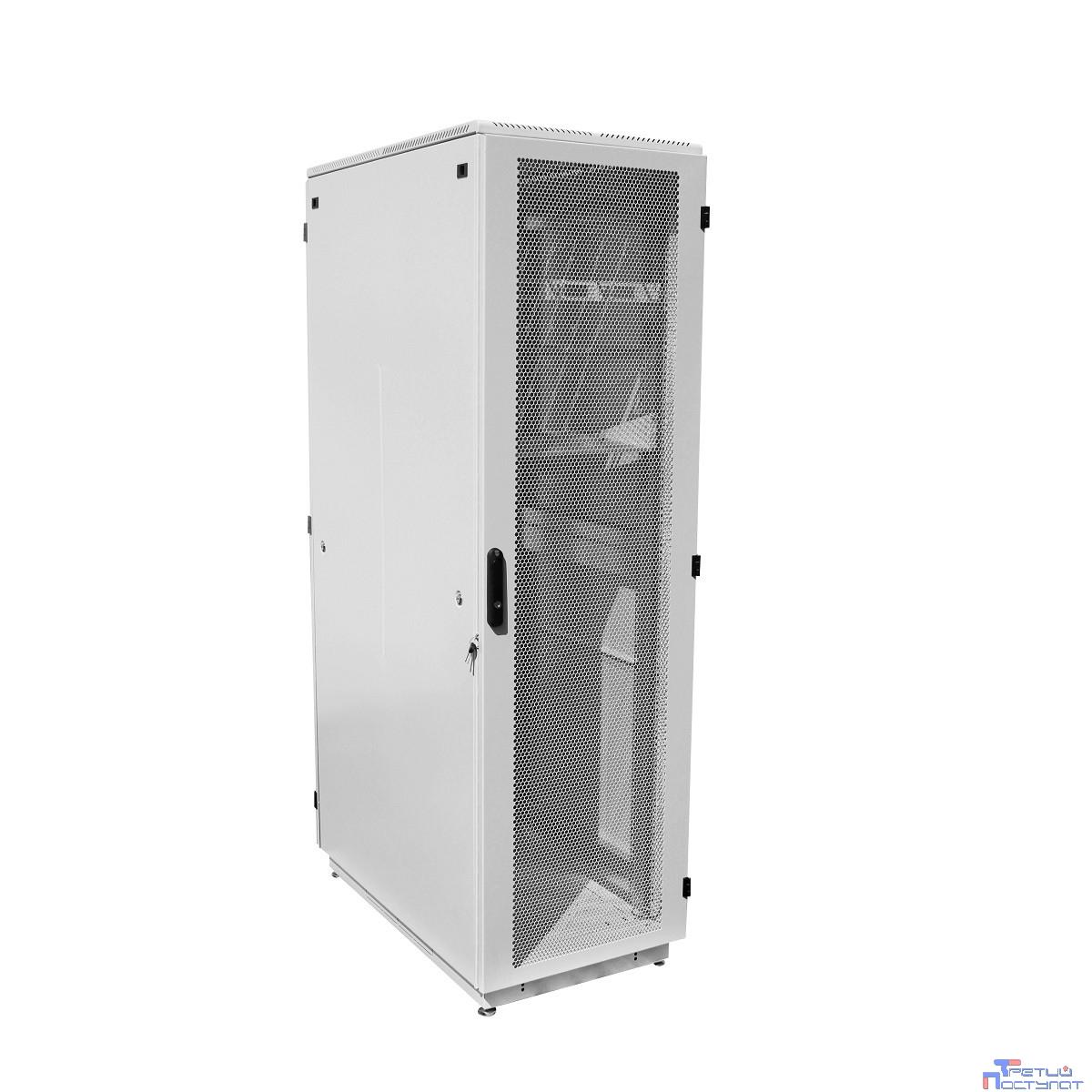 ЦМО! Шкаф телеком. напольный 42U (600x600) дверь перфорированная (ШТК-М-42.6.6-4ААА) (3 коробки)