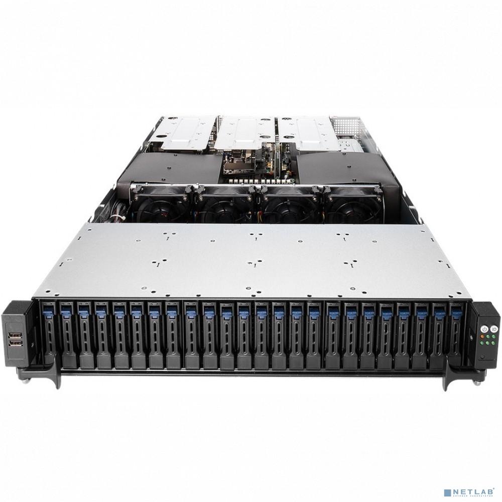 Серверная платформа ASUS RS720-E9-RS24-E Rack 2U,Z11PP-D24,LGA 3647,sup/Xeon 2nd Gen,RDIMM/LR-DIMM/3DS(24/2933MHz/9TB),24xSFF HDD H-S,2xM.2 SSD,2xGbE,soft RAID,8xPCi+1xOCP Mez,2x1200W,ASMB9-iKVM