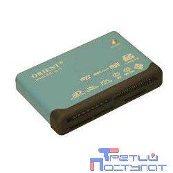 USB 2.0 Card Reader Mini ORIENT All in 1 Black [CR-02BR]