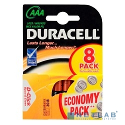 DURACELL LR03-8BL BASIC AAA (MN2400) (8 шт. в уп-ке)