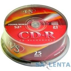 Диски VS CD-R 80min, 52x, Cake Box 25шт.