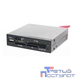 """USB 2.0 Card reader All in 1, int. 3.5"""" (черный) [Gembird FDI2-ALLIN1S-B] + SATA"""