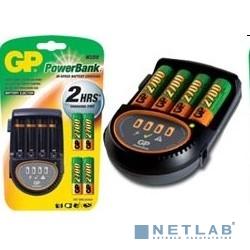 GP PB50GS270CA-2CR4 {Зарядное устройство 4 аккумулятора AA 2700 мАч, провод для зарядки в автомобиле в комплекте}