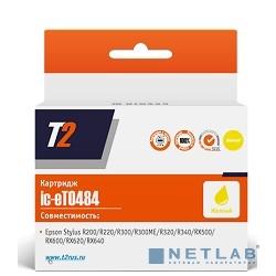 T2 C13T048440  Картридж (IC-ET0484) для  Stylus Photo R200/R300/RX500/RX600, желтый, с чипом