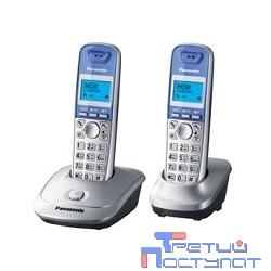 Panasonic KX-TG2512RUS (серебристый) {Доп трубка в комплекте,АОН, Caller ID,спикерфон на трубке,полифония}