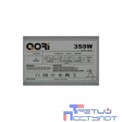Б/питания SP QoRi 350W (350CG) ATX, 8cm fan, 20+4pin +4Pin, 2*SATA, 1*FDD, 2*IDE RET