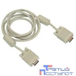 Gembird/Cablexpert CC-PVGA-6, Кабель VGA Pro, 1.8м, 15M/15M, экран, феррит. кольца
