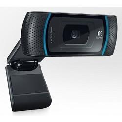 960-000684 Logitech HD Webcam B910, USB 2.0, 1280*720, 5Mpix foto, автофокус, Carll Zeiss, Mic, Blac