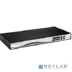 D-Link DES-1210-10/ME/B1/B2A Управляемый коммутатор 2 уровня с 8 портами 10/100Base-TX и 2 комбо-портами 100/1000Base-T/SFP