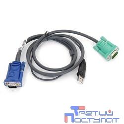 ATEN 2L-5201U Кабель KVM  USB(тип А Male)+HDB15(Male) -  SPHD15(Male) 1,2м., черный.