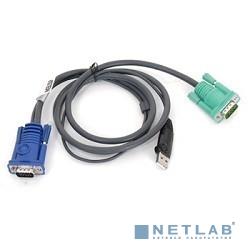 ATEN 2L-5205U Кабель KVM  USB(тип А Male)+HDB15(Male) <->  SPHD15(Male) 5,0м., черный.