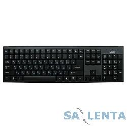 CBR KB 108 Black USB, Клавиатура 104 кл. + регул. громк., офисн., переключение языка 1 кнопкой